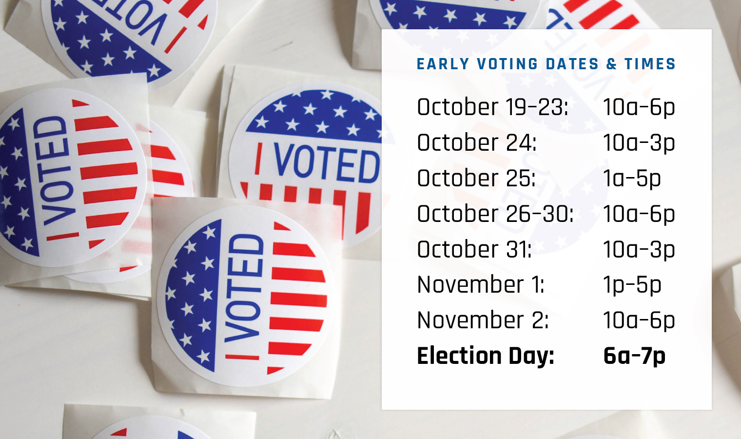Vote Early at the Library!